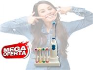Escova de Dentes Total Care com 5 Cabeças Coloridas e Suporte. PORTES INCLUÍDOS.