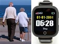 Smartwatch GPS para Seniores com Chamadas SOS. Relógio-localizador de segurança
